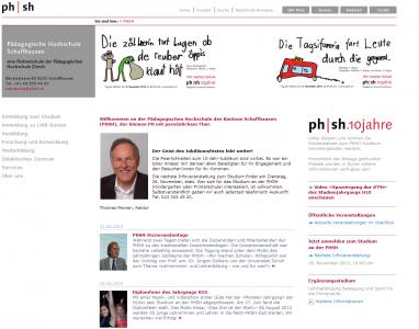 Site de la Haute Ecole de Schaffhouse : PHSH